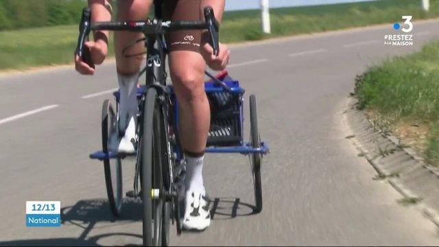 Cyclisme : un jeune champion monte en selle pour faire les courses de ses voisins