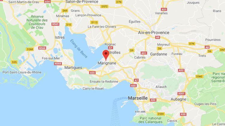 La ville de Marignane dans les Bouches-du-Rhône. (GOOGLE MAPS / FRANCETV INFO)