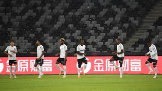 Les joueurs de Monaco lors de la finale du trophée des champions, le 3 août 2018, à Shenzhen, en Chine. (ANNE-CHRISTINE POUJOULAT / AFP)