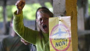 Des militants opposés au projet de construction de l'aéroport à Notre-Dame-des-Landes (Loire-Atlantique), le 26 juin 2016. (LOIC VENANCE / AFP)