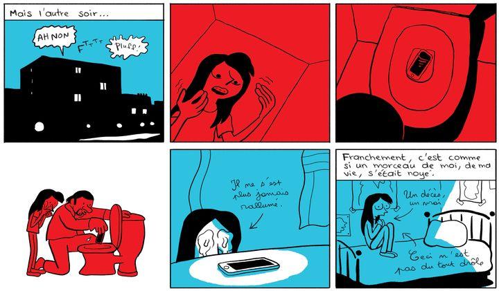 """""""Les Cahiers d'Esther, histoire de mes 14 ans"""", extrait de la page 49 (Riad Sattouf / Allary Editions)"""