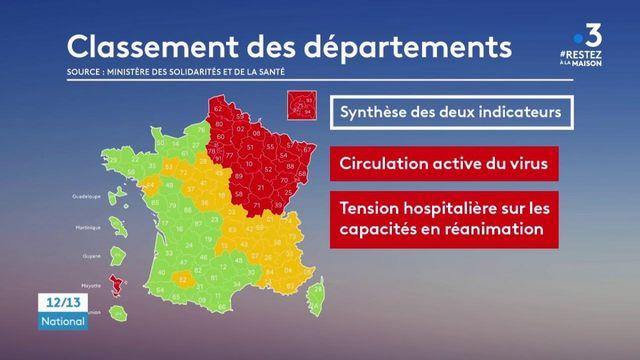 Carte du déconfinement : que changent les couleurs pour les départements ?