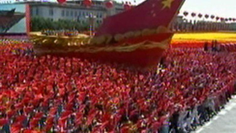 Célébrations des 60 ans du régime communiste, le 1er octobre 2009 à Pékin. (© France 2)