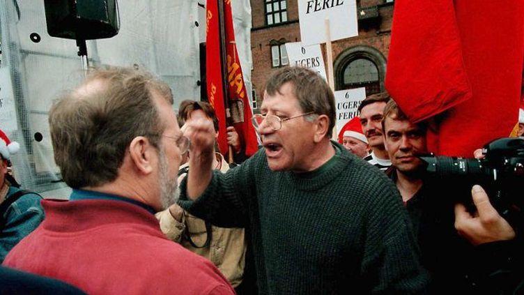 Conflit social au Danemark (ici une manifestation en 1998) (LISELOTTE SABROE / SCANPIX DENMARK / AFP)