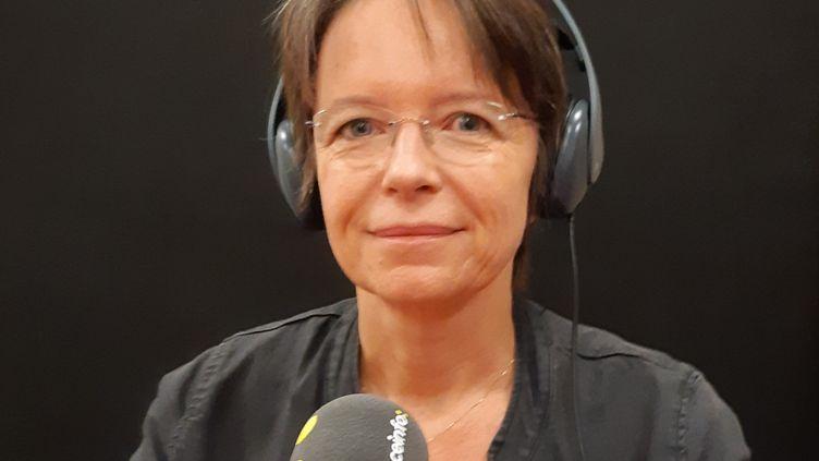 Florence Thune, directrice générale de Sidaction, le 9 octobre 2019. (CLAIRE VUILLOT / RADIO FRANCE)