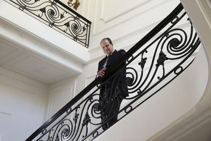 Jean-Christophe Cambadelis, le 16 mai 2014, un mois après son accession à la tête du PS. (JOEL SAGET / AFP)