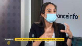 Melvina Sarfati El Grably, directrice générale de Deliveroo France. (FRANCEINFO / RADIOFRANCE)