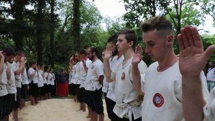 Le gouren est une lutte bretonne ancestrale. Dans la région, la discipline est proposée en option pour les candidats au baccalauréat. (FRANCE 3)
