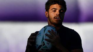 Romain Ntamack, plus jeune joueur tricolore sélectionné pour une coupe du monde, le 16 octobre 2019 à Oita, au Japon. (GABRIEL BOUYS / AFP)