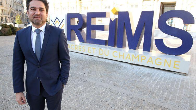 Arnaud Robinet, maire (LR) de Reims et vice-président de la métropole rémoise. (FRANCOIS NASCIMBENI / AFP)