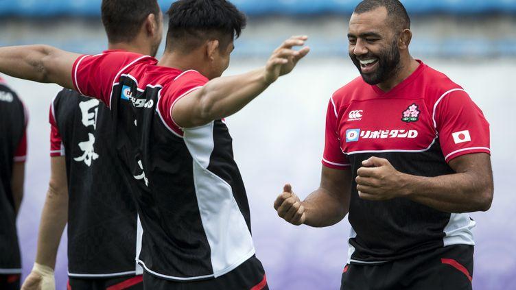Michael Leitch assiste à une séance d'entraînementà Tokyo à l'occasion de la Coupe du monde de rugby au Japon, le 8octobre 2019. (ODD ANDERSEN / AFP)