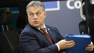 Le Premier ministre hongrois Viktor Orban lors d'un sommet européen organisé à Bruxelles (Belgique), le 15 décembre 2016. (THIERRY CHARLIER / AFP)