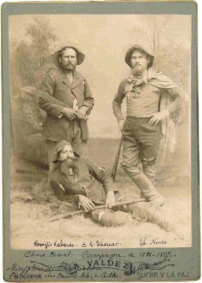 Portrait photographique de 3 grands voyageurs, 1886-1887  (Archives nationales )