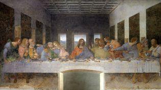 """""""La Cene"""" Fresque de Leonard de Vinci (1495-1497), ici la fresque originale sur le mur du refectoire de Santa Maria Delle Grazie à Milan  (AFP)"""