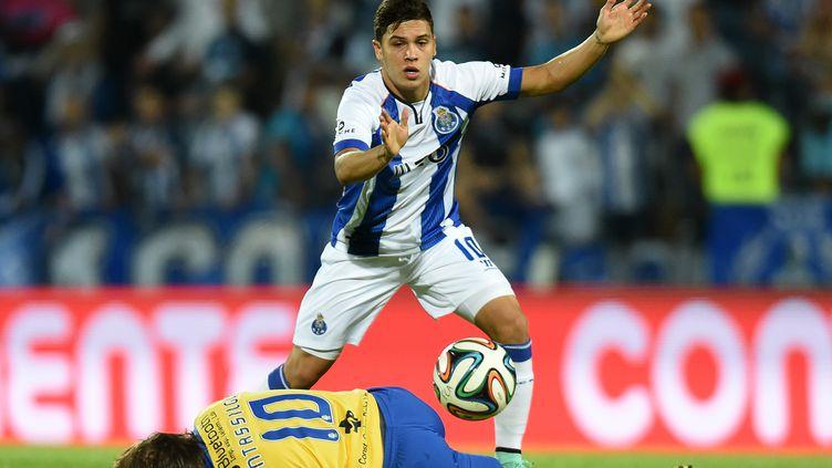 Juan Quintero sous les couleurs de Porto. (FRANCISCO LEONG / AFP)