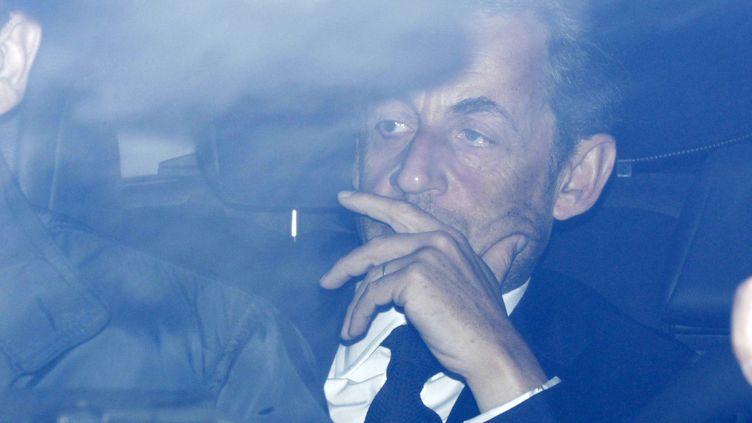 L'ancien président français Nicolas Sarkozy, à Paris, le 25 mars 2013. (PASCAL ROSSIGNOL / REUTERS)