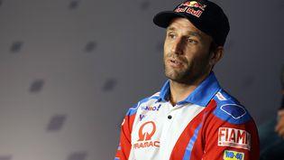 Johann Zarco lors d'une conférence de presseavant le début du Grand Prix de Styrian, le 5 août 2021, en Autriche. (GIGI SOLDANO / AFP)