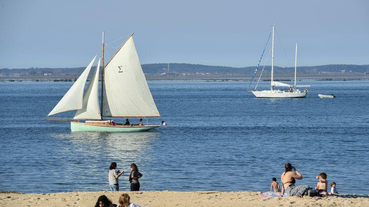 La plage d'Arcachon (Gironde) le 27 février 2019. (MEHDI FEDOUACH / AFP)