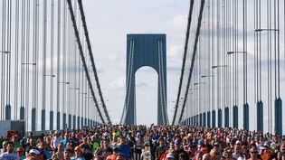 Les coureurs du marathon de New York, le 6 novembre 2016. (Photo d'illustration) (MICHAEL REAVES / GETTY IMAGES NORTH AMERICA)