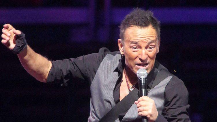 Bruce Springsteen sur scène en février 2016.  (Owen Sweeney/AP/SIPA)