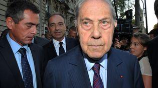 L'ancien ministre Charles Pasqua, le 4 septembre à Neuilly-sur-Seine (Hauts-de-Seine). (CITIZENSIDE / AFP)
