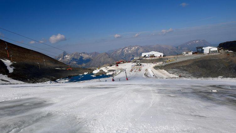 Le glacier des Deux Alpes, en Rhône-Alpes, le 1er août 2018 (MAXPPP)