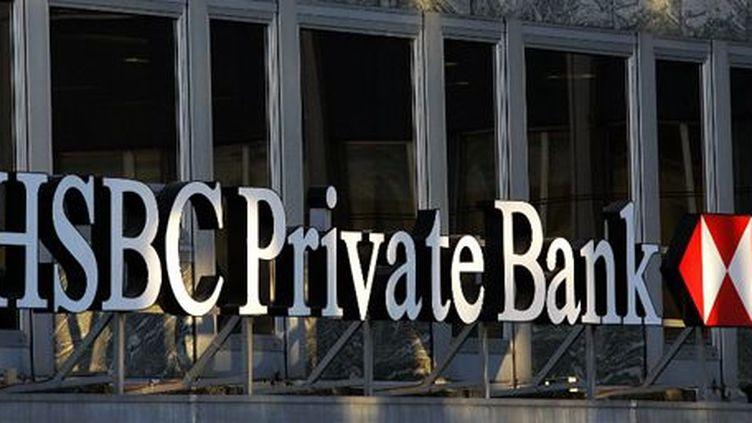 Le logo de la banque HSBC. Photo prise à Genève le 21 septembre 2006 (AFP - Fabrice Coffrini)