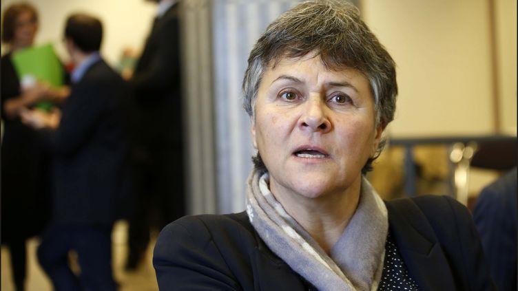 Dominique Voynet, directrice de l'ARS de Mayotte. Ici le 31 janvier 2017 à Paris. (LUC NOBOUT / MAXPPP)