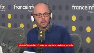 Thomas Snégaroff, le 7 avril 2017. (FRANCEINFO)