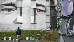 Street-Art-City à Lurcy-Lévis dans l'Allier est ouvert au public jusqu'au 3 novembre 2019 (ARNAUD DUMONTIER / MAXPPP)
