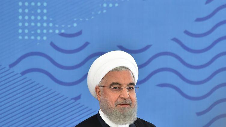 Le président américain Hassan Rouhani lors d'un sommet à Bishlek (Kirghizistan), le 14 juin 2019. (VYACHESLAV OSELEDKO / AFP)