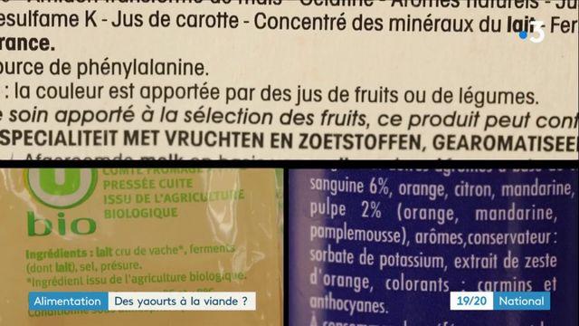 Alimentation : des matières animales dans des yahourts