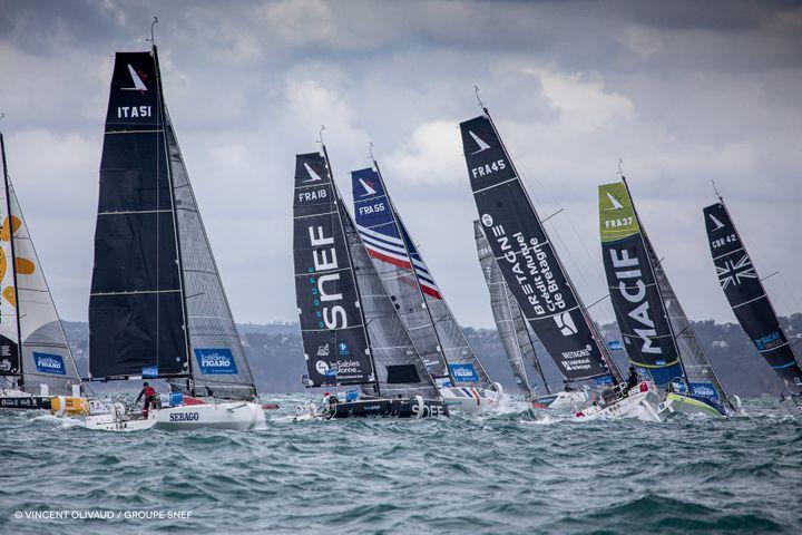 La flotte 2020 de la solitaire du Figaro (© VINCENT OLIVAUD)