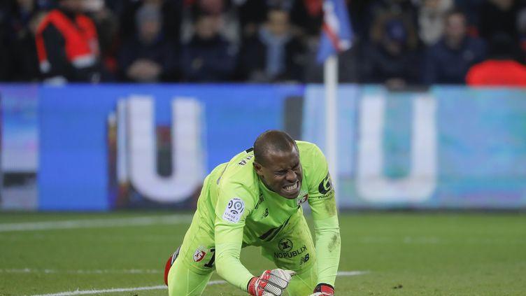 Le gardien lillois Vincent Enyeama grimaçant lors de la défaite du LOSC au Parc des Princes face au Paris-SG (1-2) le 7 février dernier. (STEPHANE ALLAMAN / STEPHANE ALLAMAN)