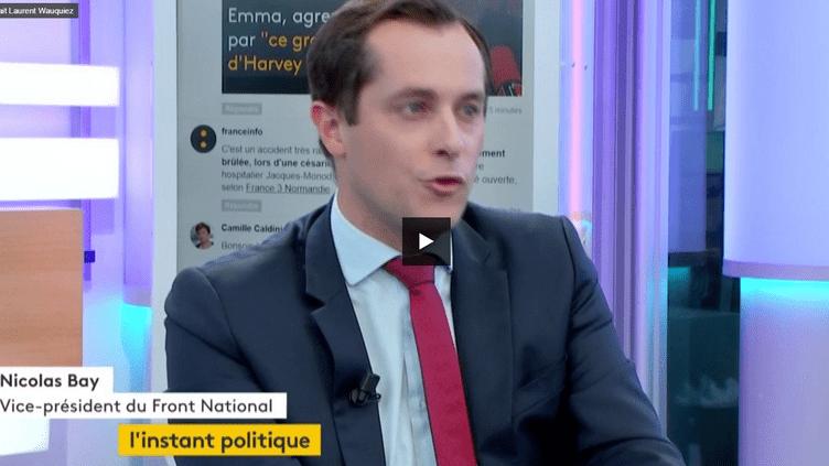 Nicolas Bay, vice-président du Front National (FRANCEINFO)