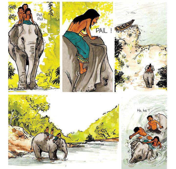 """""""Un million d'éléphants"""", page 5  (Vanyda)"""