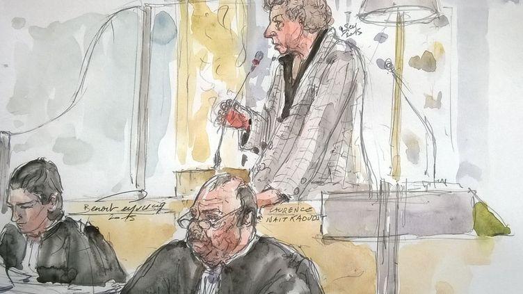 Laurence Nait Kaoudjt comparaît devant la cour d'assises de Rennes (Ille-et-Vilaine), le 14 septembre 2015. (BENOIT PEYRUCQ / AFP)