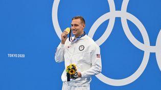 L'Américain Caeleb Dressel repart de Tokyo avec cinq médailles d'or olympique. (MUSTAFA YALCIN / ANADOLU AGENCY / AFP)