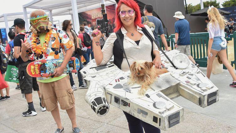 """Au Comic-Con 2018, les fans de """"Star Wars"""" étaient très nombreux. (CHRIS DELMAS / AFP)"""