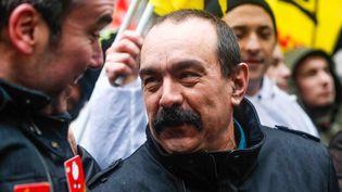 Philippe Martinez, probable futur secrétaire général de la CGT, lors d'une manifestation organisée à Paris, jeudi 29 janvier 2015. (JALLAL SEDDIKI / CITIZENSIDE / AFP)
