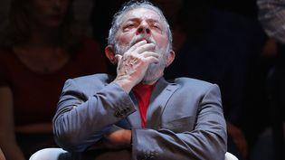 L'ancien président brésilien Lula, le 2 avril 2018 à Rio de Janeiro. (MAXPPP)