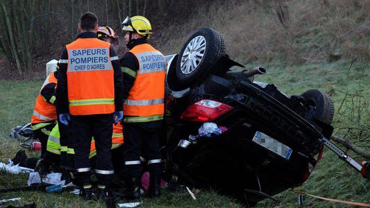 (Accident de la route sur le contournement de Behren-lès-Forbach en janvier © maxPPP)