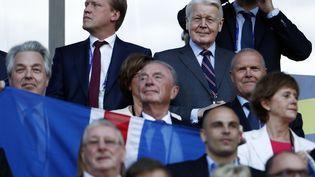 Le président islandaisOlafur Ragnar Grimsson lors de la rencontre entre le Portugal et l'Islande à Saint-Etienne, le 14 juin 2016. (ODD ANDERSEN / AFP)