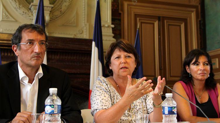 François Lamy et Martine Aubry. Photo d'illustration. (DELPHINE GOLDSZTEJN / MAXPPP)