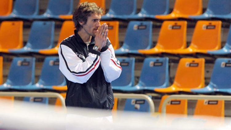 Le capitaine tricolore de la Fed Cup Nicolas Escudé