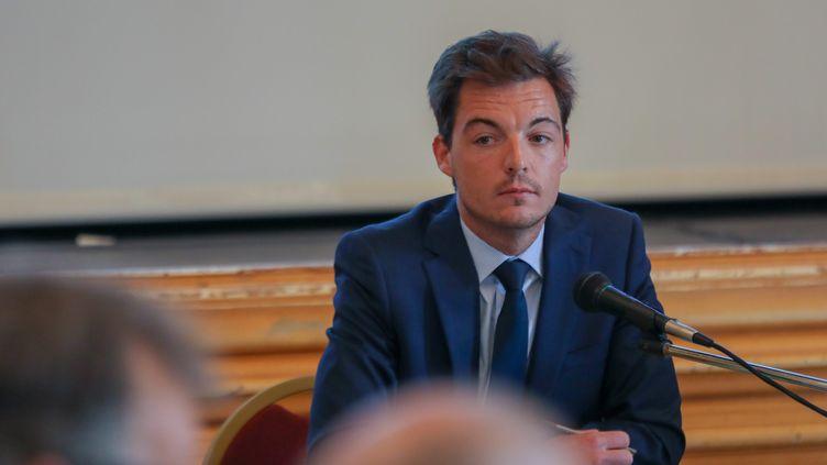 Stéphane Sieczkowski-Samier, lemaire d'Hesdin (Pas-de-Calais), lors d'un conseil municipal, le 16 avril 2019. (MAXPPP)