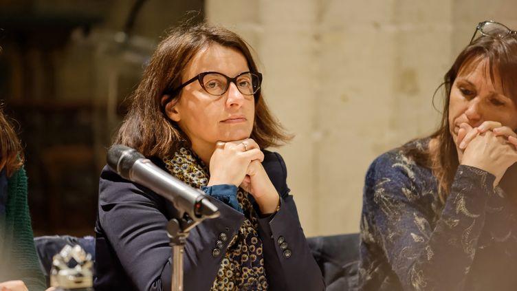 Cécile Duflot en avril 2019 lors d'une conférence sur la conversion énergétique à Paris. (DANIEL PIER / NURPHOTO / AFP)