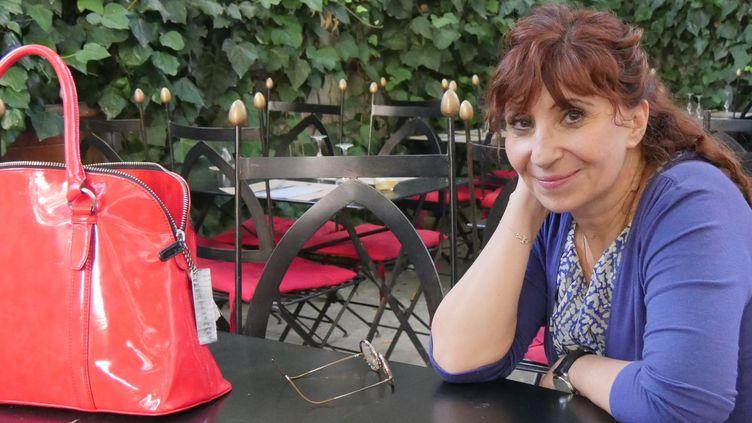 Ariane Ascaride dans la cour de Petit Louvre, Avignon 2016  (LH / Culturebox)