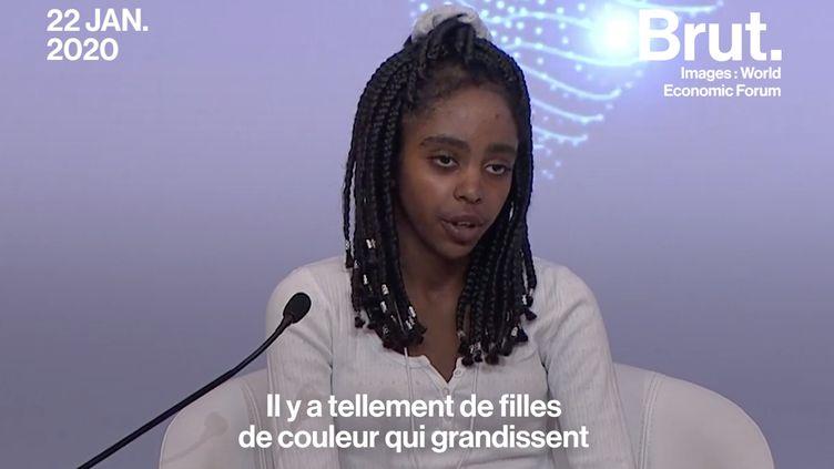 """VIDEO. """"Les médias sont doués pour encenser les mouvements des jeunes blancs privilégiés"""", a lancé Naomi Wadler (BRUT)"""