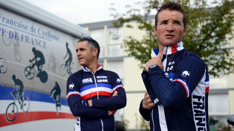 Thomas Voeckler sera le leader des Bleus de Laurent Jalabert (FRANCK FIFE / AFP)